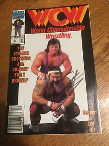 MARVEL COMICS: WCW WRESTLING #9. The Steiner Brothers. (SCOTTS AUTOGRAPH) PM2