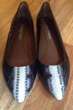 "Donald Pliner ""Adore"" Size 6 M Python Snakeskin Loafers Skimmers Flats"