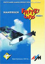 Handbuch Fritz ! Card Classic 43 Seiten Original