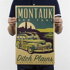 Montauk New York Kraftpapier Poster Kunden Schlafzimmer Hintergrund/Wandaufklebe