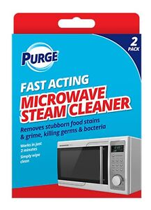 2 Pack MICROWAVE STEAM CLEANER SOLUTION