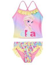 Girls Official Licensed Disney Frozen Elsa Swimwear Swimming Costume BIKINI