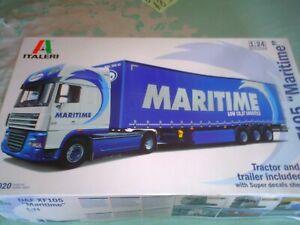 ITALERI 1/24 SCALE THE DAF XF105 ''MARITIME'' TRUCK & TRAILER KIT NO 3920