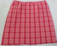 Women's ANNEX CASUAL CORNER plus size 2X, cotton,lined,plaid,knee high skirt