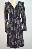Mistral designer ladies cotton jersey leaf print wrap dress NEW size 8 10 NEW