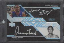 2007-08 UD Black Autographs Dual #BW Kobe Bryant Jerry West Auto /25