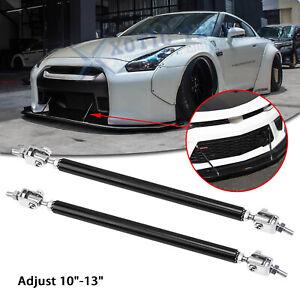 "Adjust 10""-13"" Bumper Black Strut Lip Splitter Support Bars For Nissan 370Z GTR"