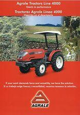 Prospekt Landmaschinen GB E Agrale Tractors Tractores 4000 Trecker Traktor 2001