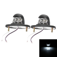 2pcs Universal 12V Car Truck SUV White 6 LED License Plate Door Bed Light