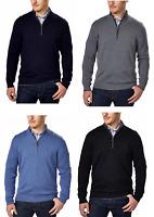 Kirkland Signature Men's Merino Wool Sweater 1/4 Zip S M L XL XXL BNWT