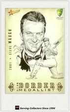 2008-09 Select Cricket Alan Border Medalist Sketch Card BMS2 Steve Waugh