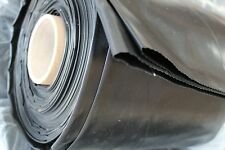 Black Plastic Polythene Sheet Damp Proof 4mx25m roll DPM 300Mu 1200 gauge Cover