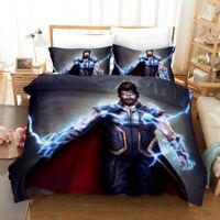 Thor 3PCS 3D Bedding Set Quilt Duvet Cover Pillowcase Comforter Cover Twin Queen