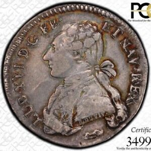 FINEST & ONLY @NGC & PCGS XF40 1776 & 24 SOL FRANCE LOUIS XVI TONED 1/5 ECU
