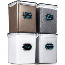 Large Cereal Storage Containers Airtight Cereal & Dry Food Storage Sugar Flour