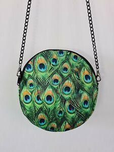 Round Peacock Feather Bag - Handbag - Ethical Bird Tropical