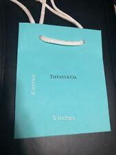 "Tiffany & Co Blue Shopping Bag Gift Bag 9.75"" X 8"""