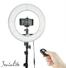"12"" SOCIALITE LED Video Ring Light Kit Incl Stand, iPhone/DSLR Mount, Remote"