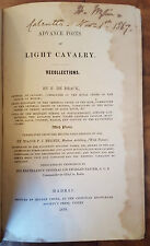 Advance Posts of Light Cavalry Recollections. With Plates.De Brack 1850 English
