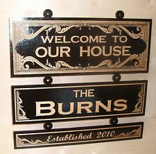 Personalized,Custom Wood Sign.WELCOME TO..ANY TEXT. Birch..Laser engraved.Gift.