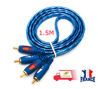 2RCA Male to 2RCA Male Stereo Audio Cable Gold Plated for Home Theater 1.5 M
