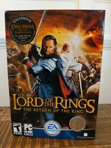 New Factory SEALED The Lord of the Rings Return of the King DVD-ROM 2003 PC Game