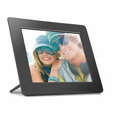 Aluratek 8 Inch LCD Digital Photo Frame USB SD/SDHC with Built-in Clock - Black