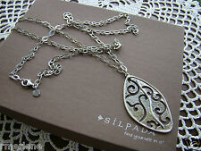 """Long Necklace $219 N2446 Retired! Silpada Sterling Silver """"Stormy Cove"""""""