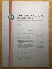 The Aeronautical Quarterly (Royal Aeronautical Society Journal) RARE Nov 1973