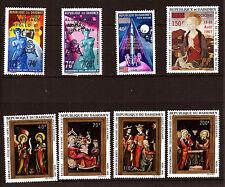 DAHOMEY 1969/70 neufs P.A : Noël1970,La Madone, ApolloXI G124