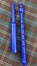 BLUE COLORED Practice Chanter by R.G.Hardie in Scotland - Regular Length (New)