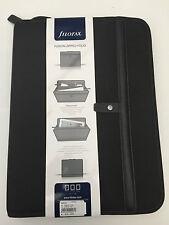 Filofax A4 Fusion zip portfolio Black