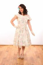 50s vintage style summer tea length dress perfect for wedding summer / races