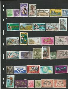 Nigeria used stamp assortment