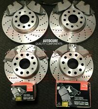 FITS VW GOLF GTD MK7 FRONT AND REAR DRILLED BRAKE DISCS + APEC PADS NEW