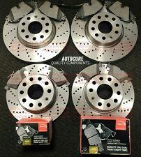 Fits Audi A4 B7 3.0 TDI Quattro Genuine Apec Front Vented Drilled Brake Discs