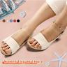 Elegant Low Chunky Heel Comfort Women Summer Sandals