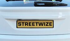 Streetwize Front & Rear Plastic Car License Number Plate Holder Surround - Black