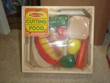 Melissa and Doug Cutting Food SET OVER 25 PIECES PLUS KNIFE & CUTTING BOARD