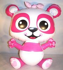 6 PINK PANDA BEAR INFLATABLE 24 IN NOVELTY TOY blow up inflate novelty NEW bears