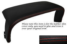 RED STITCHING FITS JAGUAR XJ X300 94-97 INSTRUMENT SPEEDO COWL LEATHER COVER