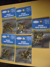 5 PACKS OF 12 (60 TOTAL) SIZE 10 TOURNAMENT CHOICE BRASS SNAP SWIVELS #BSSS1-10