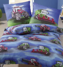 Baumwoll Bettwäsche Trecker Traktor Mähdrescher 135x200