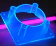 BLUE UV REACTIVE PLASTIC FAN ADAPTER 60mm TO 80mm  NEW COOLING PC MODDING PART