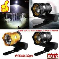 1PC USB Rechargeable 15000LM XM-L T6 LED MTB Light Bicycle Headlight Front Bike