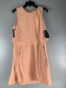 NIKE WOMEN'S GOLF TENNIS FLEX ACE DRESS CI9806-885 SUNSET HAZE NWT $120