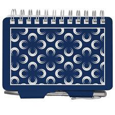 Wellspring Address Book #2841 BLUE CIRCLES Purse Sized Dark Blue Navy Flowers