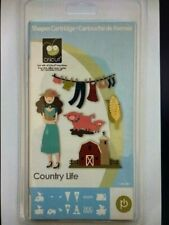 NEW COUNTRY LIFE CRICUT CARTRIDGE FARM ANIMALS PEOPLE PIG BARN SHAPES FARM THEME