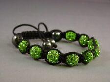 Crystal Shamballa Bracelet 9 Disco Clay Balls 10mm Adjustable, **UK Stock **Fast