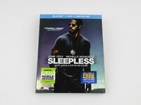 Sleepless (Blu-ray/DVD, 2017, 2-Disc Set, Includes Digital Copy UltraViolet)